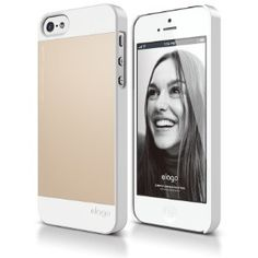 Amazon.com: elago S5 Outfit Aluminum and Polycarbonate Dual Case for the iPhone 5/5S - eco friendly Retail Packaging (White / Gold): Cell Ph...