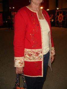 sweatshirt jacket...seen at Intl Quilt Show , Houston