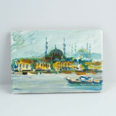 Items similar to The Oil Painting Magnet Of Istanbul - Only Special For You / Free Shipphing on Etsy Istanbul, Magnets, Oil, Unique Jewelry, Awesome, Handmade Gifts, Painting, Wallet, Etsy