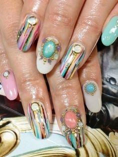 multi colored & gems.