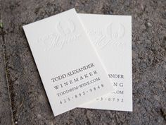 Edge Painted Skinny Cards  Letterpress Business Cards