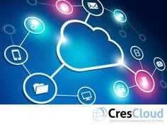 """La Nube y sus beneficios. TIPS PARA EMPRESARIOS. Cuando se habla del término """"La Nube"""", nos referimos a la posibilidad de acceder a un servidor a través de internet que se puede encontrar en cualquier sitio y a través del cual, se puede disponer archivos, programas y servicios. En CresCloud creamos Crescendo, una plataforma que proporciona información estratégica para su negocio en tiempo real, dirigido a las empresas de comercialización y distribución. #CresCloud"""