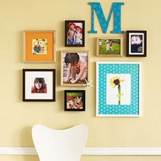 Wall decor ideas - framed groupings - want to do something similar in our bedroom