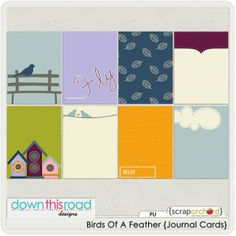 Free Birds Of A Feather Journal Cards From Down This Road Design