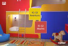 El efecto del color en los niños es muy importante. Elige para su habitación colores primarios y fomenta su creatividad desde la temprana edad.  #ComexTips #Colorful #Inspiracion #Creatividad #Lifestyle #Deco #Home #Interior #Creativity #Comex
