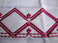 Swedish weaving done with ribbons. What a beautiful idea.