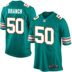 75a0c1fb3 Men s Nike Miami Dolphins  50 Andre Branch Game Aqua Green Alternate NFL  Jersey nfl jersey