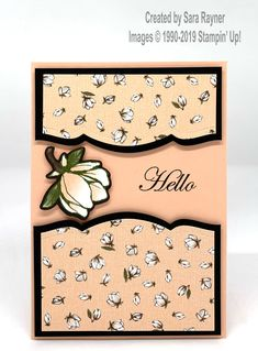 DSP Share Project 4 using Petal Pink, Basic Black and Old Olive. Fancy Fold Cards, Folded Cards, Magnolia Stamps, Stamping Up Cards, Small Cards, Cards For Friends, Handmade Birthday Cards, Card Sketches, Project 4