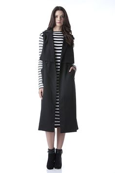 Long Trench Vest