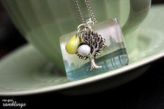 glass tile pendant