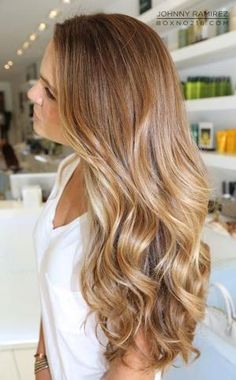 Dark blonde/ light brown hair color for summer by rena