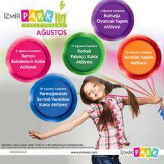 İzmir Park Çocuk Kulübü Ağustos Ayında Birbirinden Eğlenceli Etkinliklerle Minik Ziyaretçilerini Bekliyor!
