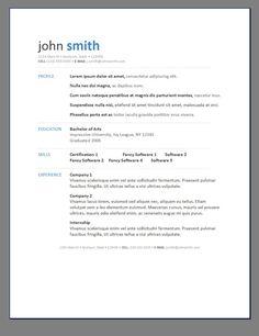 modern resume posts related to resume template modern 1 - Modern Resume Sample