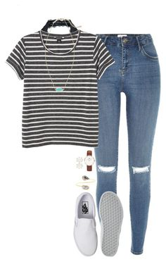 """""""comment below how you wake up... i'm curious 🙃"""" by thatprepsterlibby ❤ liked on Polyvore featuring River Island, Free People, Monki, Vans, Sole Society, Kendra Scott, Daniel Wellington, women's clothing, women and female"""