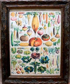 Types of Vegetables Art from 1912 Art Print on Parchment Paper. $7.50, via Etsy.