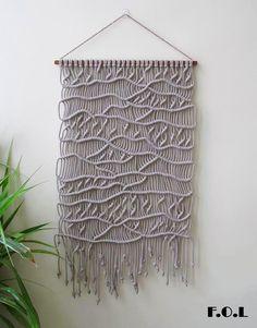 Handmade macrame wall hanging.