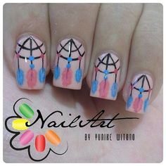 """Just Some Things I Like — Yunike Witono on Instagram: """"Dream Catcher Nails ♡..."""