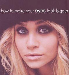 Makeup tricks to make your eyes look bigger - I already have big eyes but I wouldn't mind making them BIGGER!