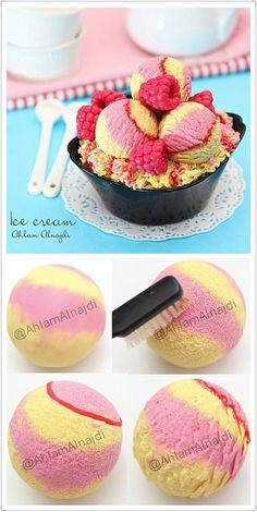 Polymer clay ice cream