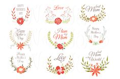 Hand Drawn Floral wreath for Mather' - Illustrations - 1