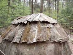 Short video tour of an Eastern Woodland, Algonquin Indian Wigwam (house)