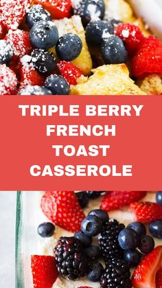 Salad Recipes, Healthy Recipes, Mothers Day Brunch, French Toast Casserole, Blueberry Recipes, Berries, Make It Yourself, Breakfast, Food