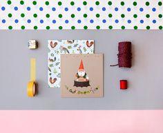Gnome's Birthday Card by clapclapdesign on Etsy
