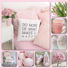 """Pink """"Do more of what makes u happy"""" mood/color collage Word Collage, Color Collage, Collages, Pot Pourri, Beautiful Collage, Beautiful Day, Merian, Mood Colors, Web Design"""
