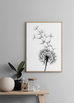 Dandelion No2 Poster in the group Posters & Prints / Sizes / 50x70cm | 20x28 at Desenio AB (2393) White Wall Decor, Black And White Wall Art, Poster Shop, Poster Poster, Desenio Posters, Gold Poster, Flur Design, Nordic Interior, Home Decor Ideas