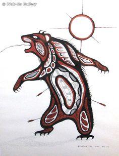 carl ray Native American Totem, Native American Artwork, Native American Symbols, Native American Artists, Native Symbols, Native Art, Bear Spirit Animal, Spirit Bear, Bear Totem