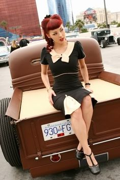 red hair pin up