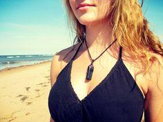 Valentines day gift  Tourmaline Necklace / Black Tourmaline necklace / Raw Tourmaline crystals /  Hippy Summer / Healing Crystals
