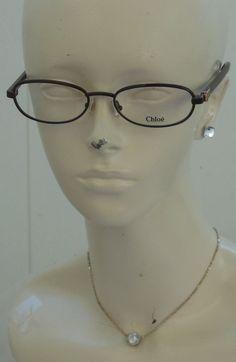 5682baa55b0 NEW Chloe Optical Eyeglass Frames Chocolate Brown RX Ready W Case Authentic   Chloe