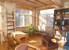 Industrial Office Space, Huge Windows, Wood Ceilings, Lofts, Beams, Toronto, The Neighbourhood, Brick, Bicycle