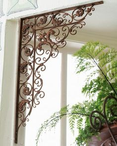 framing a wall corner on sale at reasonable prices, buy Iron Wall Hanger Metal Wall Frame Iron Wall Stent Metal Stent from mobile site on Aliexpress Now! Deco Pizzeria, Partition Design, Partition Screen, Wrought Iron Decor, Iron Furniture, Tuscan Decorating, Iron Work, Tuscan Style, Tuscan Design