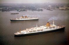 SS Berlin and Bremen off New York