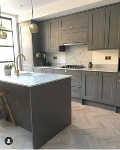 Check out this beautiful kitchen renovation and extension by Using brass accents and coordinating Brushed Brass Sockets! Home Decor Kitchen, Kitchen Interior, Kitchen Design, Apartment Kitchen, Kitchen Furniture, Kitchen Ideas, Furniture Design, Open Plan Kitchen Dining Living, Open Plan Kitchen Diner