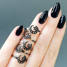 HANDMADE crescent moon and star ring highly by LeolaRevives