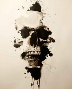 Pin by Jerome Lehmann on Skull Dark Art Drawings, Tattoo Design Drawings, Skull Tattoo Design, Tattoo Sketches, Art Sketches, Small Skull Tattoo, Skull Tattoos, Body Art Tattoos, Sleeve Tattoos