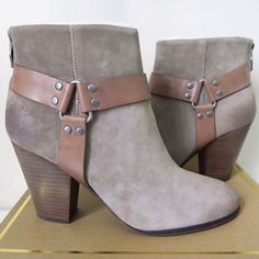 SALE❗️ASH Suede Booties ✨ Featuring a Suede upper with a Round Toe. The Leather outsole lends lasting traction and wear.  Brand - Ash Color - Stone/Stone Size - 39/ US 8 Width - Medium Upper Material - Suede  Outsole Material - Leather Heel Height - 3.5 Inches Shaft Height - 4 Inches  NO TRADES SORRY  OFFERS WELCOME  Ash Shoes Ankle Boots & Booties