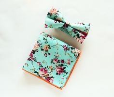 Men's Floral Aqua Mint Teal Bowtie Floral Pocket Square Pre-Tied Bowtie Gift for Men Wedding Blue Bowtie Groomsmen uk by TheStyleHubTrends on Etsy