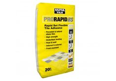 Ultra Tile Pro-Rapid RS White Flexible Tile Adhesive is a rapid set, polymer modified, premium grade cementitious tile adhesive, Ideal for natural stone tiles, porcelain tiles, mosaic tiles and ceramic tiles, £13.50 per bag