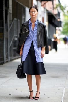 Street Style: A Sleek Transitional Work Look To Try Now (Le Fashion)