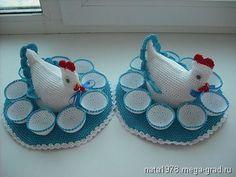 курочка-подставка для яиц - вязание и вышивка, плетение, подарки на крещение, пасху. МегаГрад - online выставка-продажа авторской ручной работы Owl Sewing Patterns, Crochet Patterns, Crochet Doilies, Crochet Hats, Crochet Chicken, Egg Holder, Diy And Crafts, Arts And Crafts, Crochet Kitchen