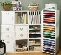 Modular Scrapbook Storage Unit Paper Room Organization Rooms Craft