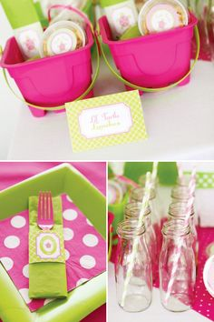 Preppy Pink & Green Turtle Party // Hostess with the Mostess®  birthday party ideas and inspiration