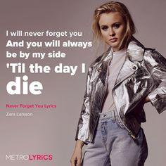 """""""死ぬその日まであなたのことを忘れない あなたはいつも私のそばにいる"""" ーZara Larsson """"Never Forget""""  重い女になりたいのかい。僕が気分が明るくなる曲をかけよう。それともカラオケ行く?ファミレスがいい?"""