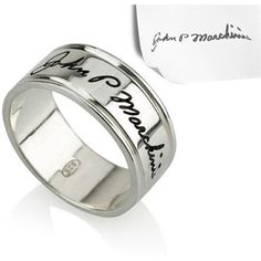 Signature Handwriting Details Ring - .925 Sterling Silver