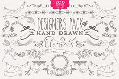 Hand drawn Designers Element Kit by Studio Chem on Creative Market