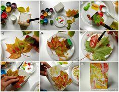 Camelia Minişan: Tutorial: Pictura cu frunze